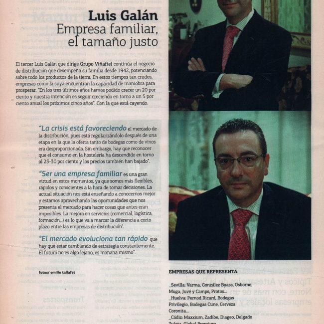 Luis Galán (Grupo Viñafiel): empresa familiar, el tamaño justo | Suite Sevilla - ABC de Sevilla | dic 2010