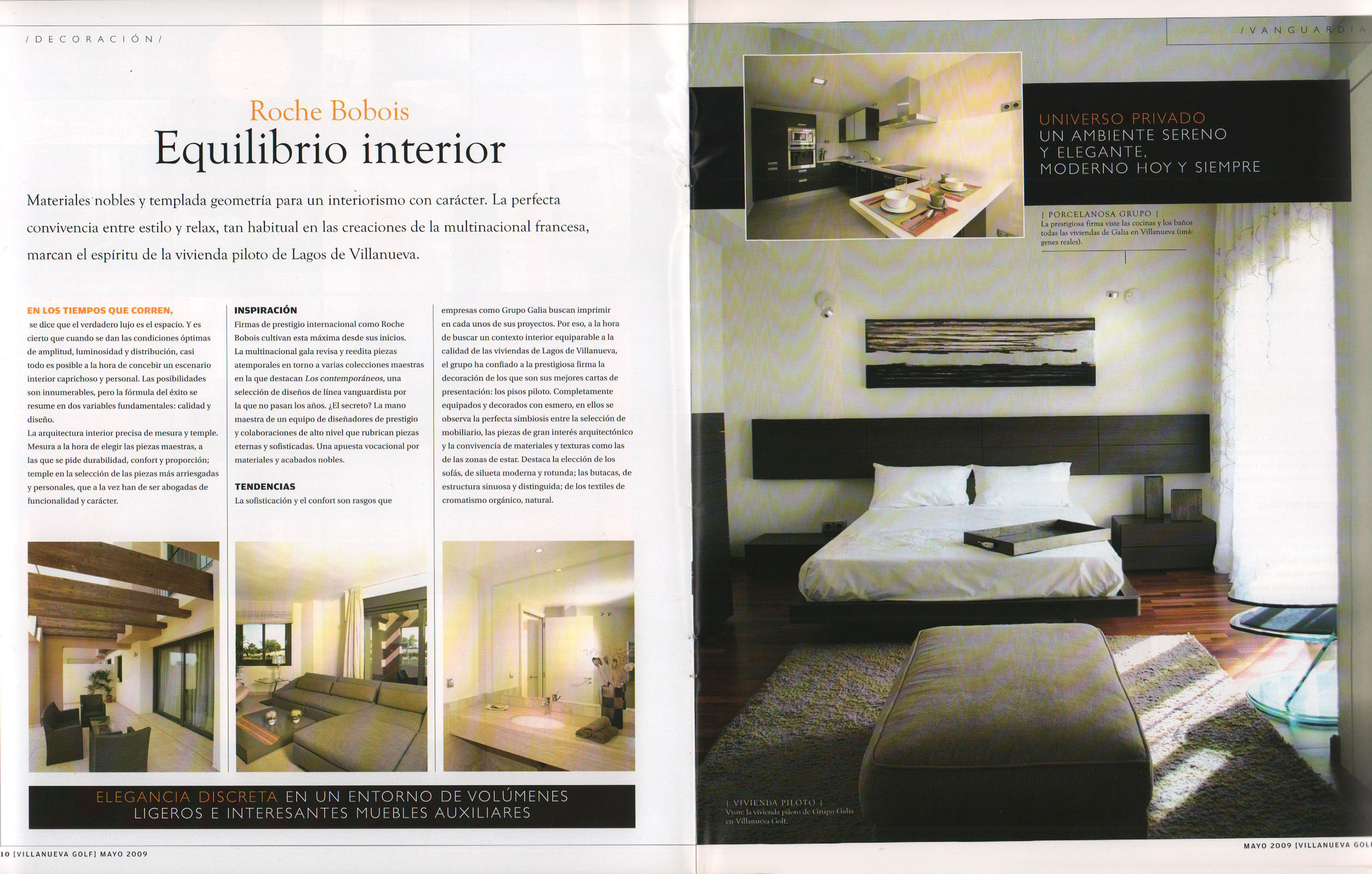Roche Bobois - Equilibrio interior | Villanueva Golf Magazine | may 2009