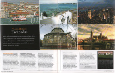 Vincci Hoteles – Escapadas | Villanueva Golf Magazine | may 2009